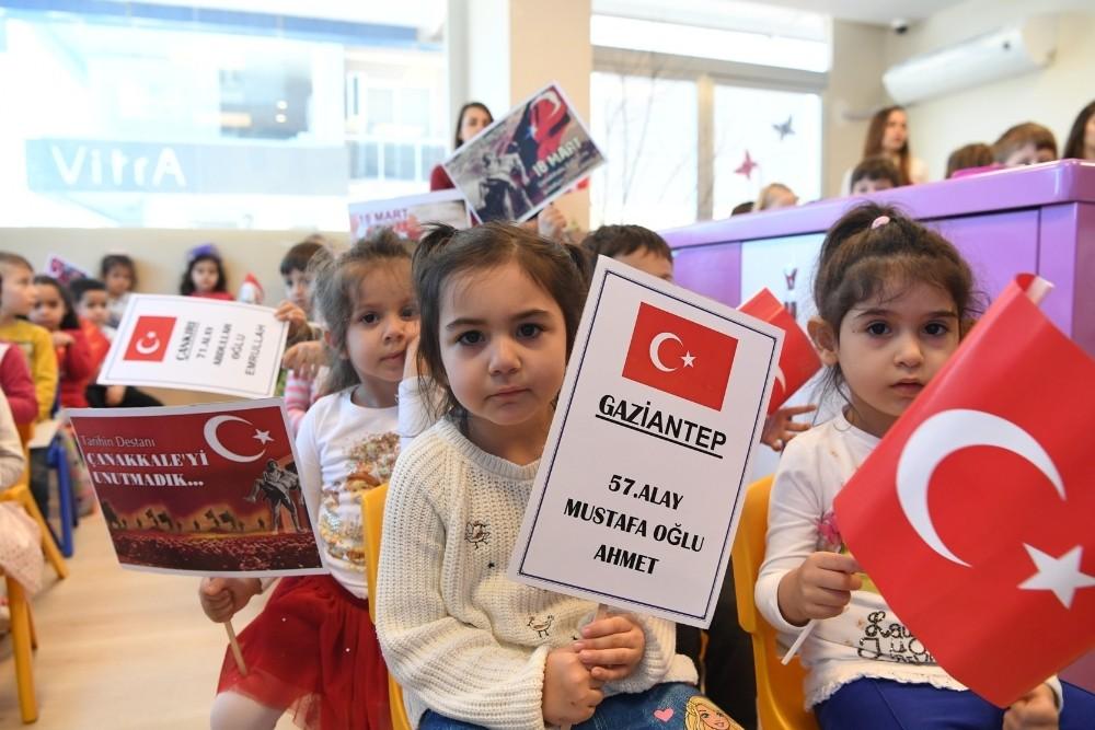 """Konyaaltı Belediyesi Kreşleri'nde """"şehitler"""" anıldı"""