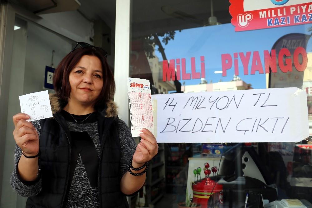Süper Loto'nun 14 milyonluk büyük ikramiyesi Muratpaşa'ya çıktı
