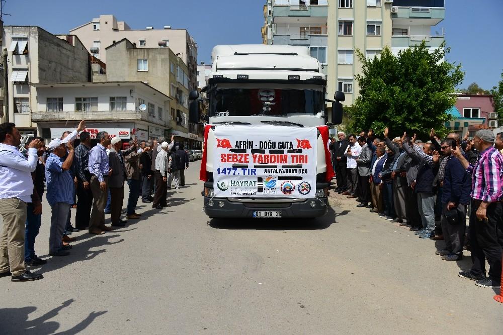 Afrin ve Doğu Kuta Yardım Tır'ı yola çıktı