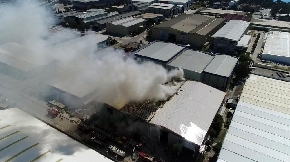Antalya'da tersane yangını tamamen söndürüldü
