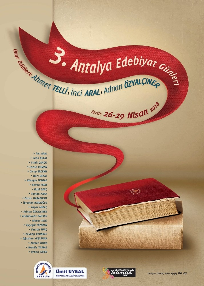 Antalya'nın 7 ayrı noktasında edebiyat konuşulacak