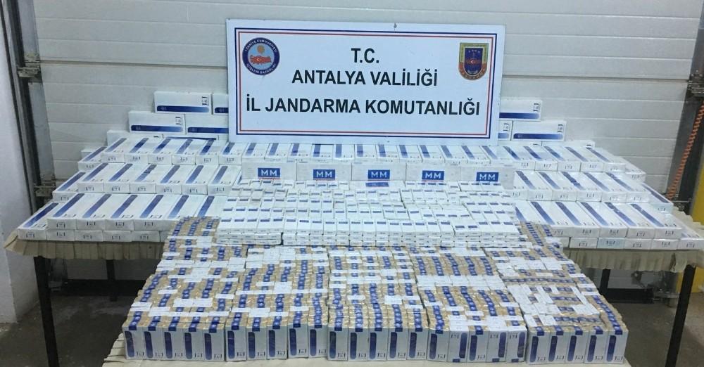 Gazipaşa'da 5 bin 230 paket kaçak sigara ele geçirildi