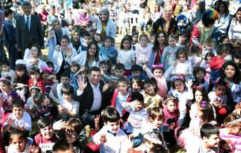 Kepez'de çocuklar için bahar şenliği