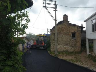 Manavgat Kalemler'de Sıcak asfalt çalışması