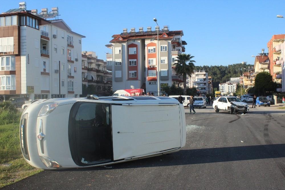 Manavgat'ta kaza ucuz atlatıldı