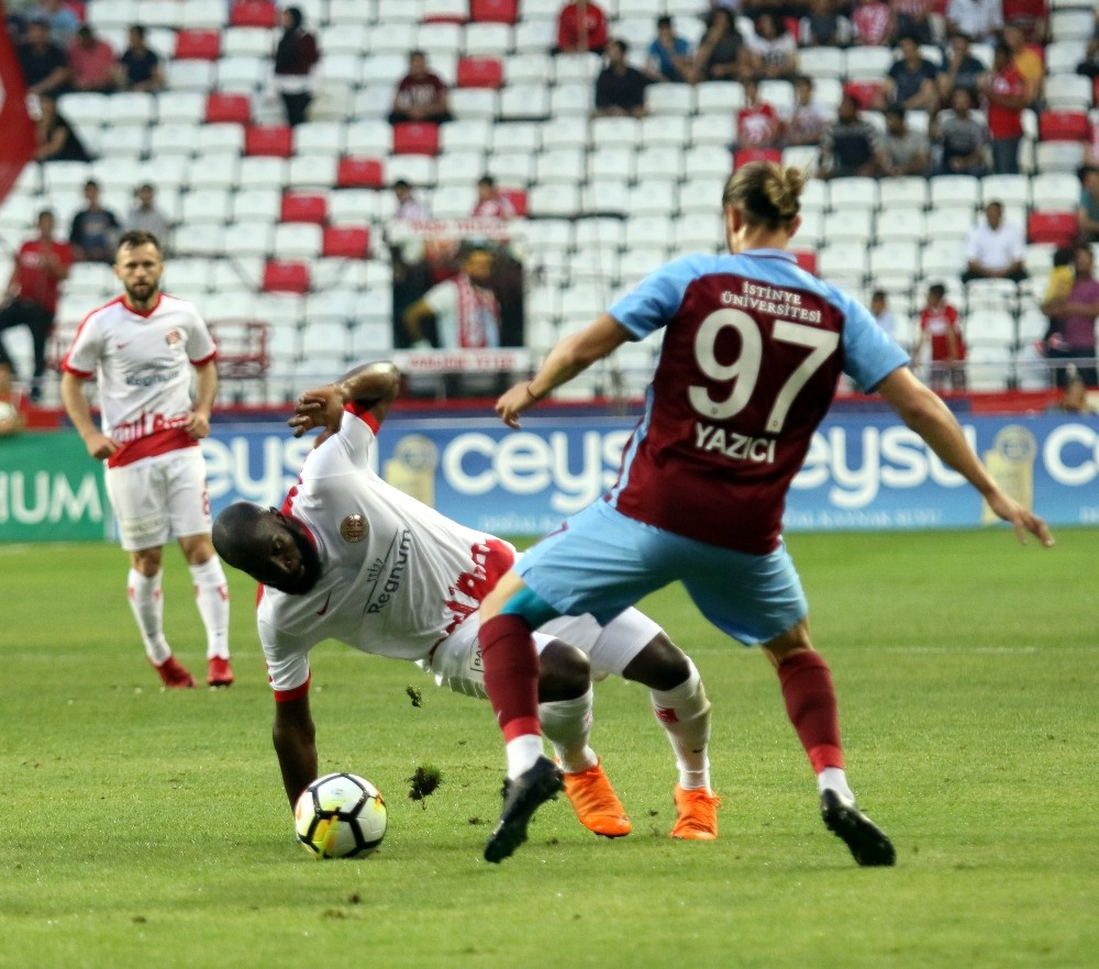 Spor Toto Süper Lig: Antalyaspor: 1 – Trabzonspor: 1 (İlk yarı)