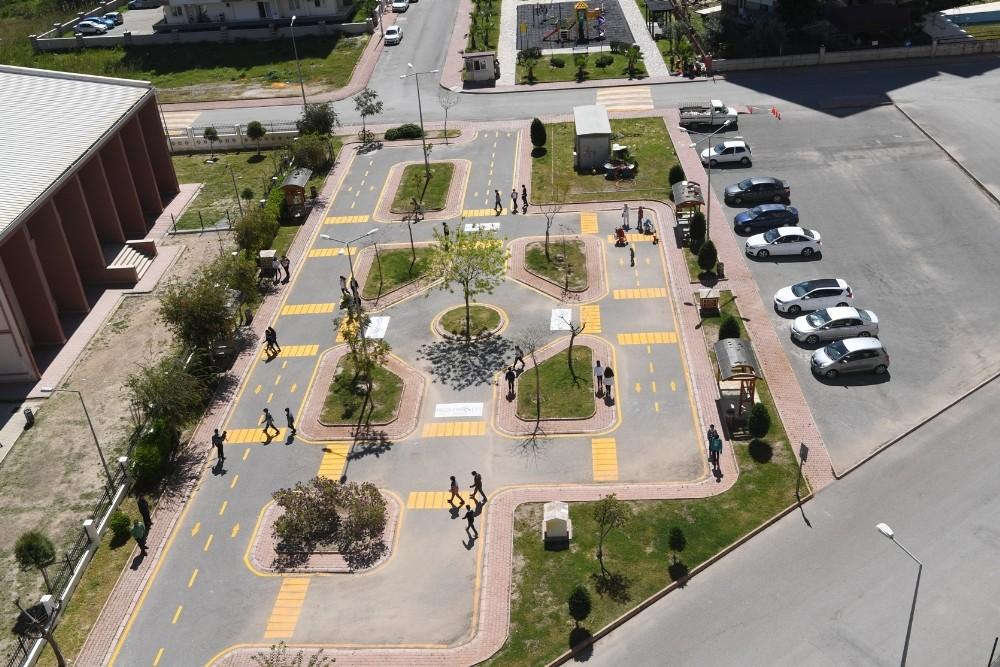 Trafik eğitim parkı yenilendi
