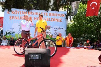 4.Köyüm Bisiklete Biniyor Şenliği'nde renkli görüntüler