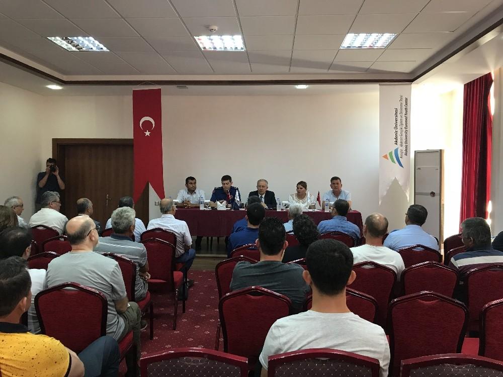 Adrasan'da Turizm Güvenliği Toplantısı yapıldı