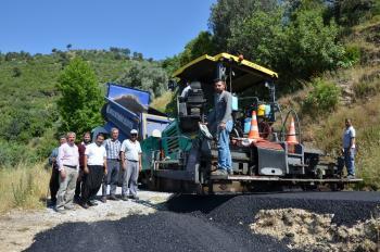 Alanya kırsalına sıcak asfalt