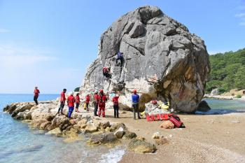 Antalya'da gerçeğini aratmayan kurtarma tatbikatı