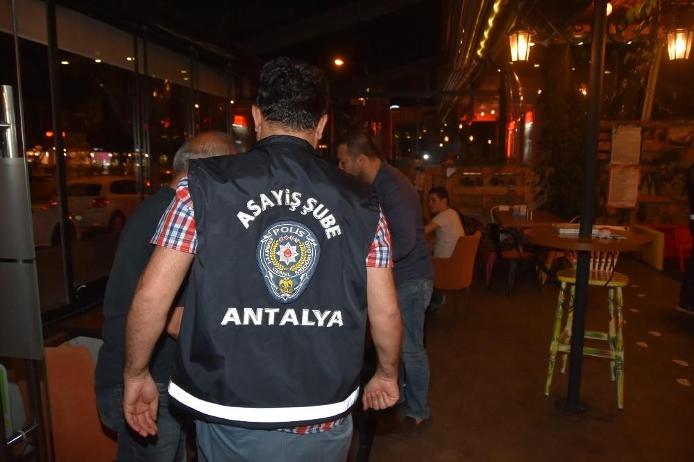 Antalya'da 'Umuma Açık Yer Denetimi'nde 10 bin 407 kişi sorgulandı