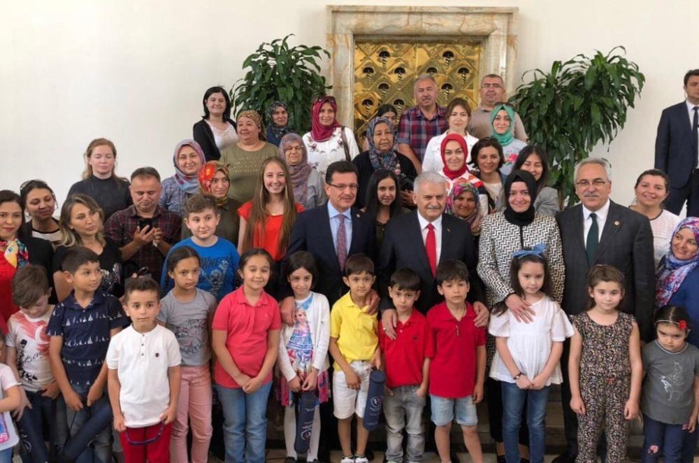 Antalyalı öğrenciler Başbakan Yıldırım ile görüştü