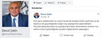 ATSO Başkanının sosyal medya hesabı çalındı