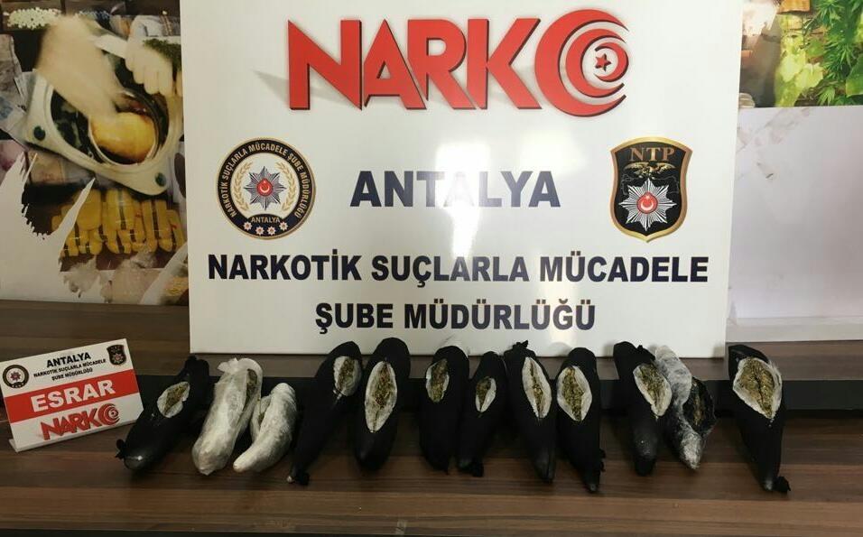 Bin 500 kilometrelik uyuşturucu sevkiyatı Antalya'da son buldu