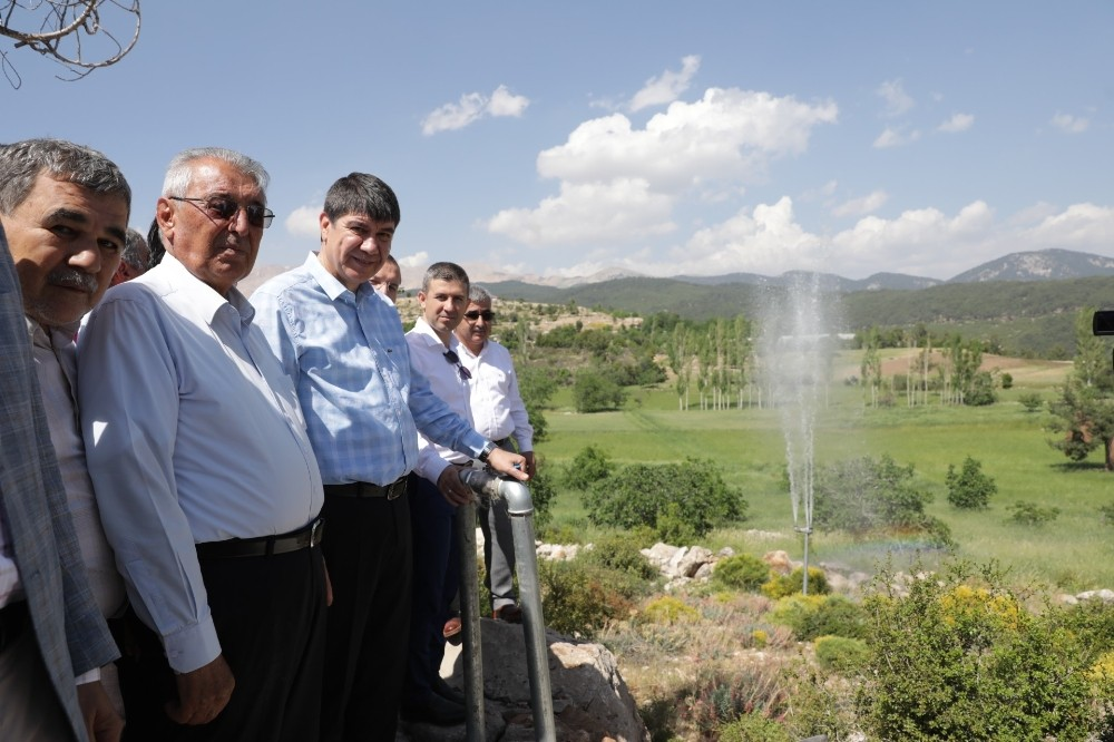 Kaş'ın Yaylaçavdır Mahallesi sulama suyuna kavuştu
