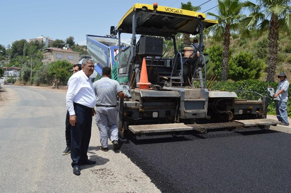 Kumluca Kasapçayırı'na sıcak asfalt