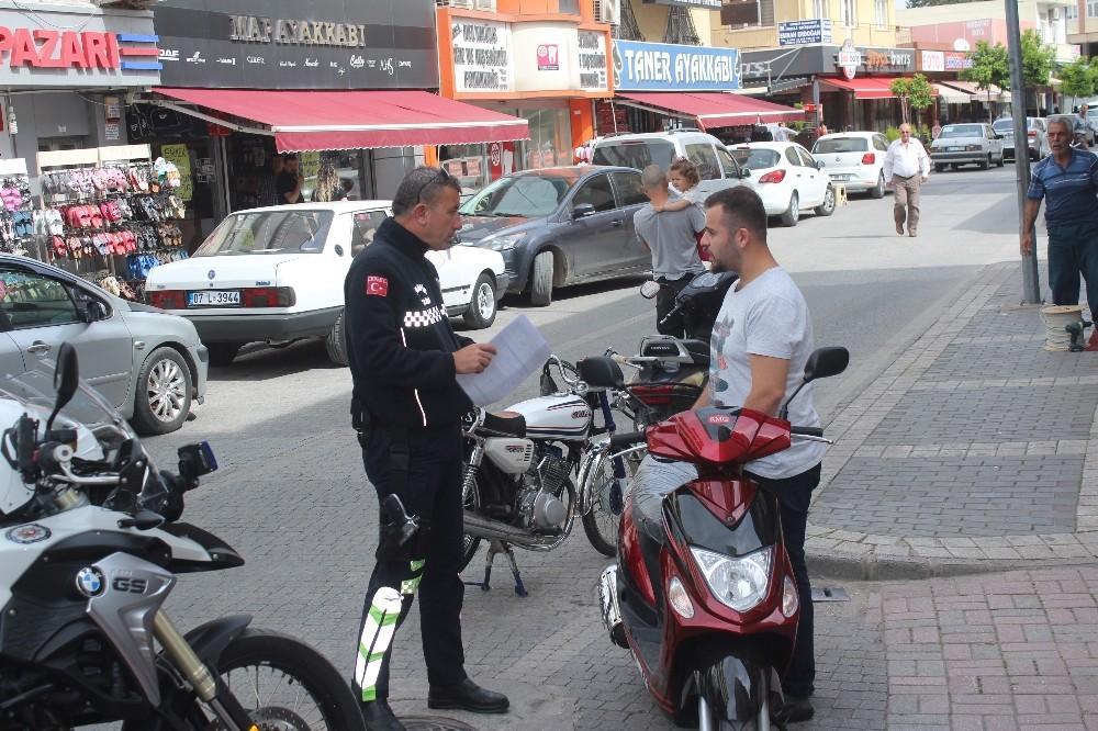 Manavgat'ta 2018'in ilk 4 ayında 139 Motosiklet trafikten men edildi.