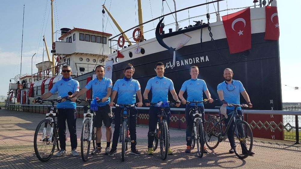 Muratpaşa bisikletçileri Samsun'da
