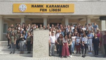 Namık Karamancı Fen Lisesi Erasmus Projesi ortaklarını ağırlıyor