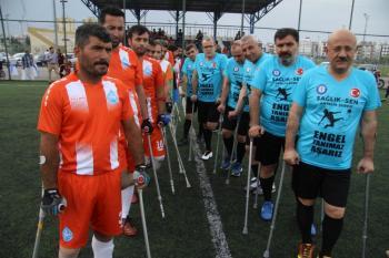 Sağlık Sen Antalya'dan engellilerle ampute maçı