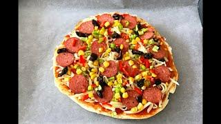 5 Dakikada Pizza Nasıl Yapılır hamur yoğurmadan