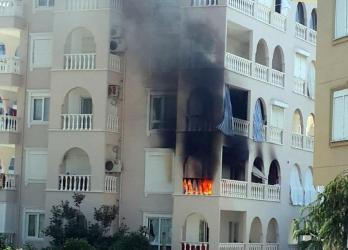 Alanya'da ev yangını korkuttu