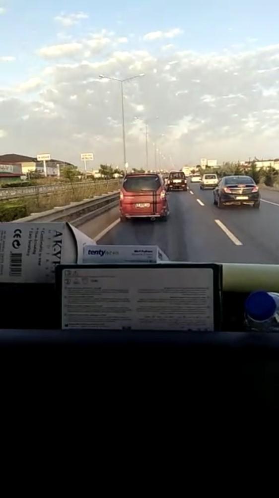 Ambulans şoförünün trafik magandasıyla imtihanı