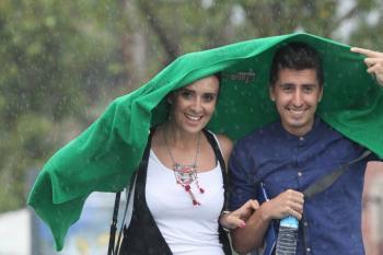 Antalya'da bayram yağmuru