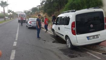 Antalya'nın Manavgat ilçesinde trafik kazası: 2 yaralı