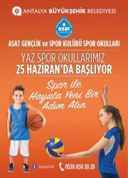 ASAT'tan yaz spor okulu
