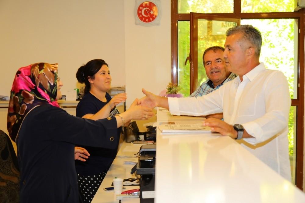 Başkan Sözen, personeliyle bayramlaştı