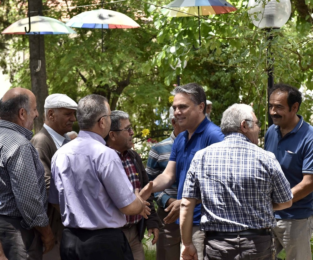 Başkan Uysal, Akseki'de