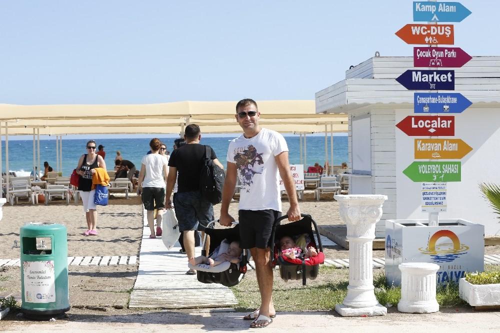 EKDAĞ Lara Plajına yoğun ilgi