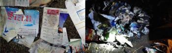 FETÖ'nün yayınlarını yakmaya çalışan kadın yakalandı