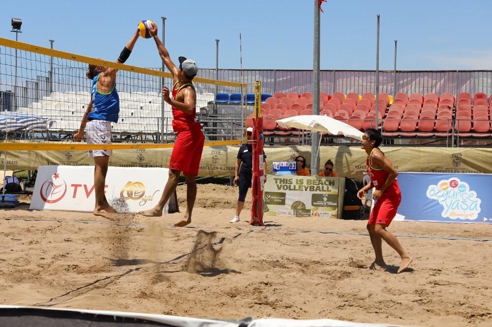 FIVB Plaj Voleybolu Dünya Turu Manavgat Open başladı