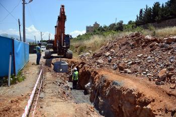 Gazipaşa'nın altyapı eksikliği tamamlanıyor