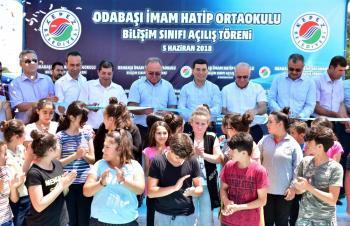 Kepez'den köy okuluna bilişim sınıfı
