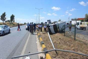 Otomobil takla attı, araç sürücüsü sinir krizi geçirdi