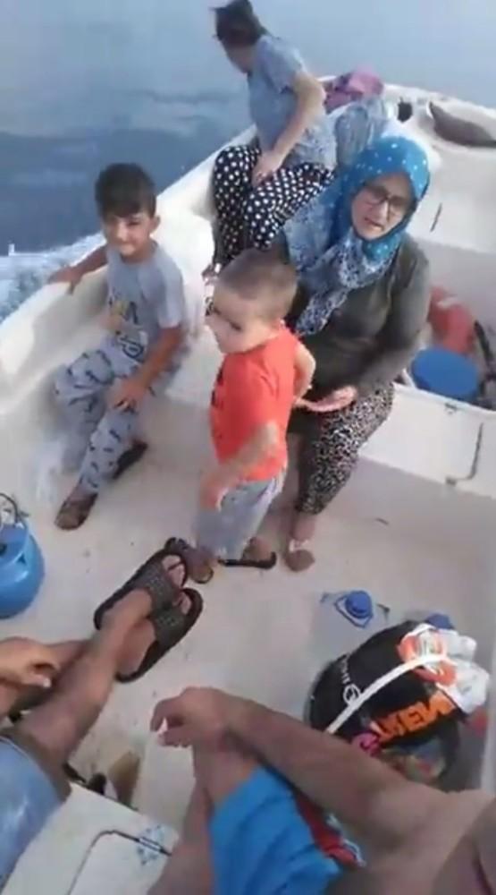 Poyraz bebeğin atlattığı tehlike öncesi tekneden canlı yayın