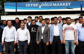 Türk bayrağın asılı olduğu market saldırısına ülkücülerden sert tepki