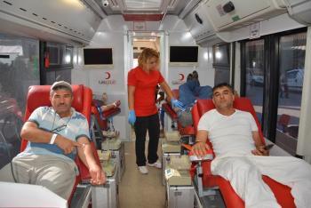10 günde 500 ünite kan bağışı