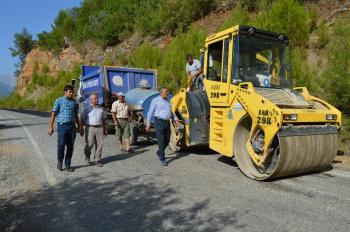 Alanya Dim Grup yoluna sıcak asfalt