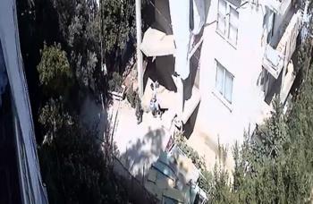 Alanya'da tüp hırsızlığı güvenlik kamerasında