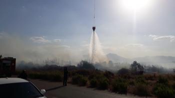 Antalya'da makilik alanda çıkan yangın korkuttu
