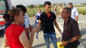 Antalya'da motosikletler çarpıştı: 2 yaralı