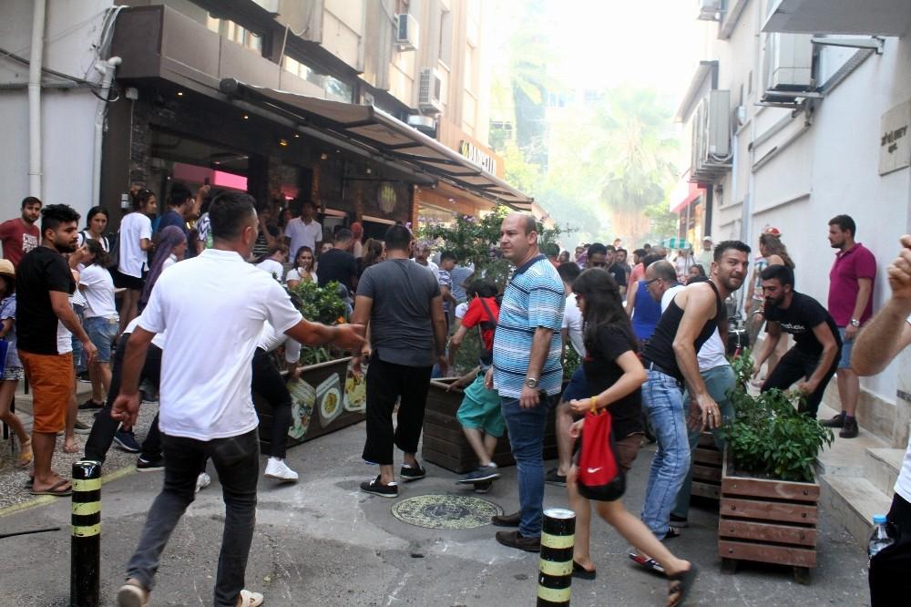 Antalya'da yangında panik anları