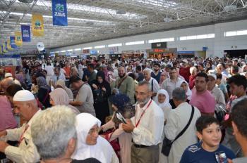 Antalya'dan 2'nci Hac Kafilesi dualarla uğurlandı