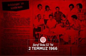 Antalyaspor 52 yaşında