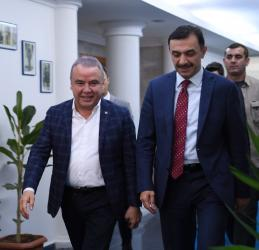 Başkan Böcek'ten Ulucan'a ziyaret